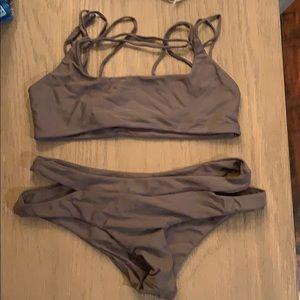 Mikoh Grey Bathing Suit